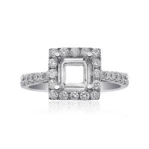 0.60 Carat Round Diamond Halo Engagement Mounting